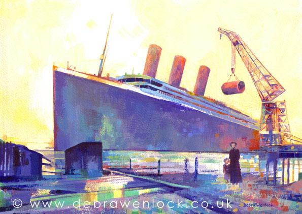 Titanic Four Funnels by Debra Wenlock