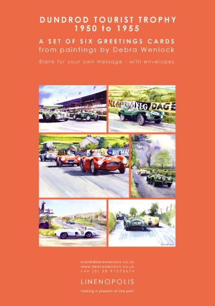 Dundrod TT Greetings Cards pack by Debra Wenlock