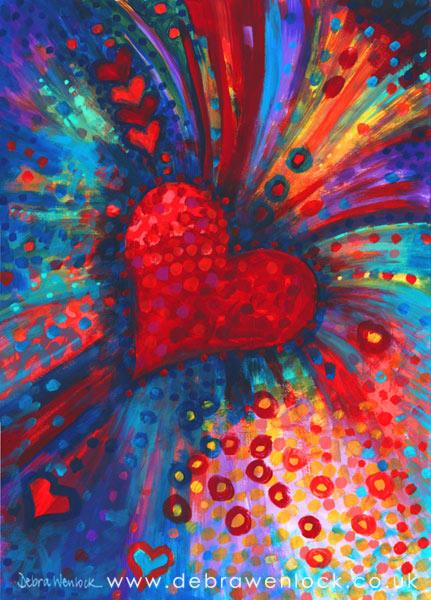 My colour-bursting Heart - Debra Wenlock