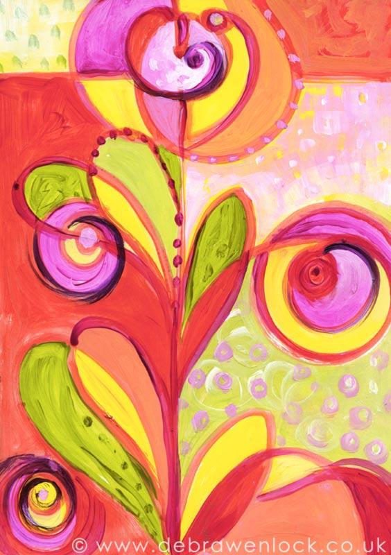 Funky Floral by Debra Wenlock