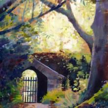 Altamont Gardens Ireland oil painting by Debra Wenlock