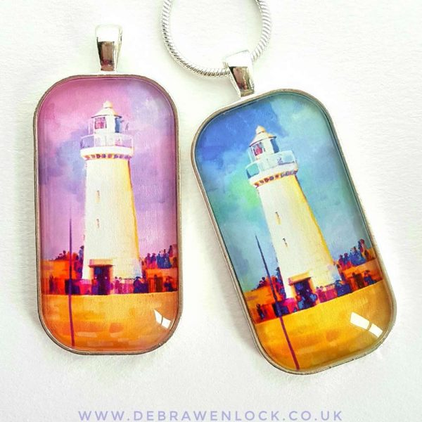 Lighthouse Art Pendants by Debra Wenlock