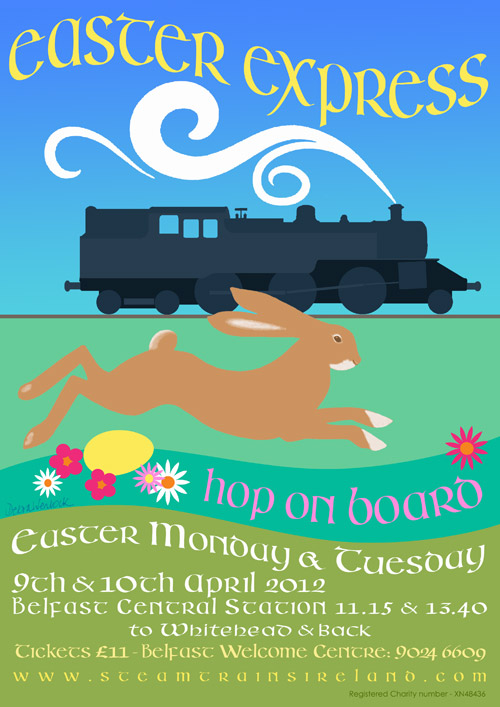 Easter Express - Steam Trains Ireland - Poster 2012