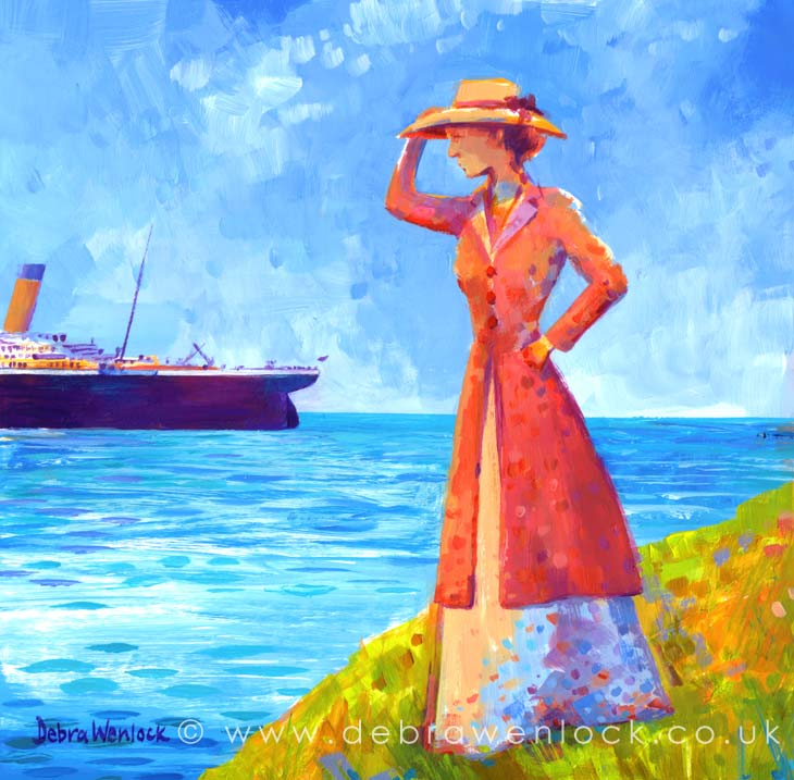 The Final Funnel - Titanic Painting by Debra Wenlock